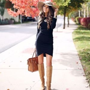 BEST SELLER! LEITH Cinched Dress, Perfect LBD!